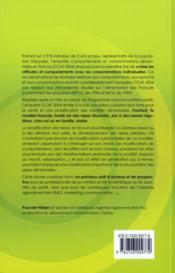 Comportements et consommations alimentaires en france. enquete ccaf 2004 - 4ème de couverture - Format classique