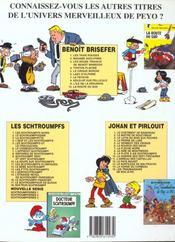 Benoît Brisefer t.6 ; lady d'Olphine - 4ème de couverture - Format classique