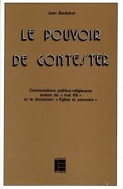 Pouvoir De Contester Lab - Couverture - Format classique