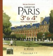 Carnet De Paris 3e Et 4e Arrondissements - Couverture - Format classique