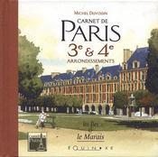 Carnet De Paris 3e Et 4e Arrondissements - Intérieur - Format classique