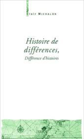 Histoire de différences, différence d'histoires - Couverture - Format classique