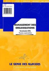 Management des organisations ; terminale STG, toutes spécialités - Intérieur - Format classique