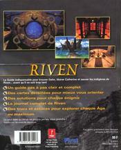 Riven. La Suite De Myst - 4ème de couverture - Format classique