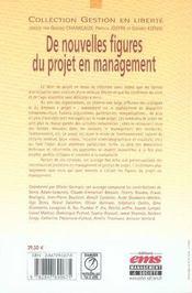 De nouvelles figures du projet en management - 4ème de couverture - Format classique