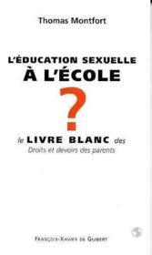 L'education sexuelle a l'ecole - Couverture - Format classique