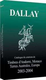 Catalogue Dallay Timbres Europa 2003 04 - Intérieur - Format classique