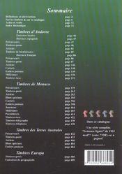 Catalogue Dallay Timbres Europa 2003 04 - 4ème de couverture - Format classique