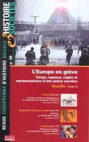 L'europe en grève ; temps, espaces, règles et représentations d'une action ouvrière - Intérieur - Format classique