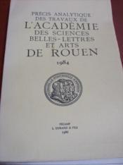 Précis analytique des travaux de l'Académie Royale (Impériale) des Sciences, Belles-Lettres et Arts de Rouen. - Couverture - Format classique