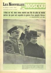Nouvelles De Moscou (Les) N°15 du 11/04/1964 - Couverture - Format classique