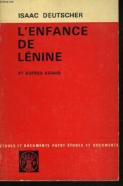 L'Enfance De Lenine Et Autres Essais. - Couverture - Format classique