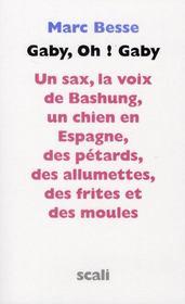 Gaby, oh ! Gaby ; un sax, la voix de Bashung, un chien en Espagne, des petards, des allumettes, des frites et des moules – Marc Besse – ACHETER OCCASION – 31/01/2008