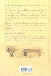 Desserts Des Provinces De France - 4ème de couverture - Format classique