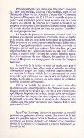 Les Loubards ; Une Approche Anthropologique - 4ème de couverture - Format classique