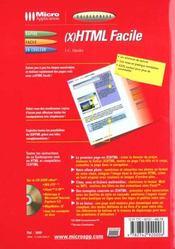 Html facile ; guide express - 4ème de couverture - Format classique