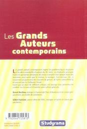 Les Grands Auteurs Contemporains - 4ème de couverture - Format classique