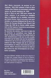 Salvador Dali Desirs Inassouvis ; Du Purisme Au Surrealisme - 4ème de couverture - Format classique