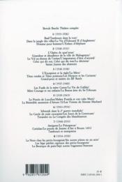 Théâtre complet t.3 - 4ème de couverture - Format classique