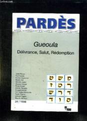 Gueoula, Delivrance, Salut, Redemption - Pardes N 24 1998 - Couverture - Format classique