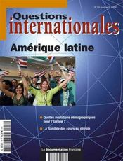 Vente livre :  REVUE QUESTIONS INTERNATIONALES T.18 ; Amérique latine  - Collectif