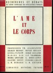 L'Ame Et Le Corps. Recherches Et Debats N° 35. - Couverture - Format classique