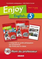 Vente livre :  ENJOY ENGLISH IN ; 3ème ; CD rom enseignants  - Odile Martin-Cocher