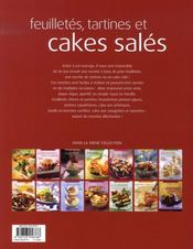 Feuilletés, tartines et cakes salés - 4ème de couverture - Format classique