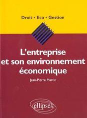 L'Entreprise Et Son Environnement Economique - Intérieur - Format classique