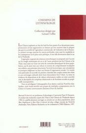 Identités en regard ; destins chinois en milieu bouddhiste thai - 4ème de couverture - Format classique