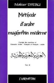 Méthode d'arabe maghrébin moderne t.2 - Couverture - Format classique