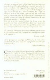Rue des soldats - 4ème de couverture - Format classique