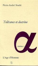 Tolerance Et Doctrine - Couverture - Format classique