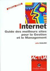 Internet. Guide Des Meilleurs Sites Pour La Gestion Et Le Management, Edition 2000 - Intérieur - Format classique