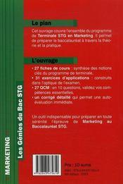 Marketing - 4ème de couverture - Format classique
