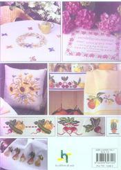 Decoration Pour La Maison ; Fleurs, Fruits Et Legumes Au Point Croix - 4ème de couverture - Format classique