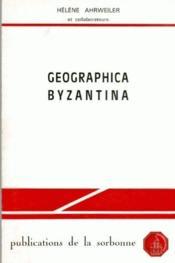 Geographica Byzantina - Couverture - Format classique