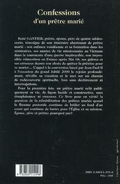 Confession D'Un Pretre Marie - 4ème de couverture - Format classique