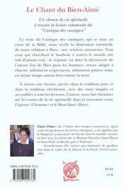 Le Chant Du Bien Aime - 4ème de couverture - Format classique
