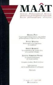 Revue Maat T.1 ; Revue Philosophique Africaine ; Avril 1999 - Couverture - Format classique