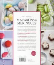 Macarons & meringues - 4ème de couverture - Format classique