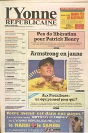 Yonne Republicaine (L') N°159 du 11/07/2000 - Couverture - Format classique