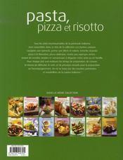 Pizza, pasta et risotto - 4ème de couverture - Format classique