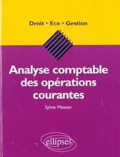 Vente  Analyse comptable des operations courantes  - Messier - Sylvie Messier