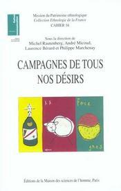 Campagnes De Tous Nos Desirs ; Patrimoines Et Nouveaux Usages Sociaux - Intérieur - Format classique