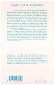 Casque Bleu En Yougoslavie - 4ème de couverture - Format classique