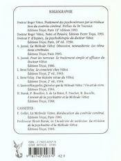 La psychothérapie du docteur Vittoz - 4ème de couverture - Format classique