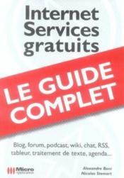 Internet, services gratuits - Couverture - Format classique