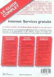 Internet, services gratuits - 4ème de couverture - Format classique