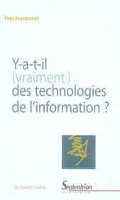 Y-a-t-il (vraiment) des technologies de l'information ? - Intérieur - Format classique